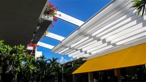 en fold retractable canopy  bal harbour shops youtube