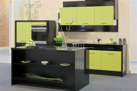 pictures  kitchens modern green kitchen cabinets