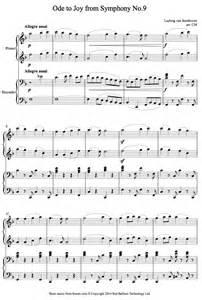 Beethoven Ode to Joy Piano Sheet Music