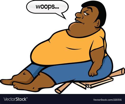 foto de Fat black guy Royalty Free Vector Image VectorStock