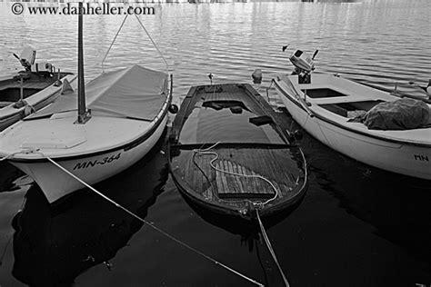 Sinking Big Boats by Sinking Boat B W