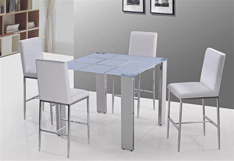 white modern pub table set