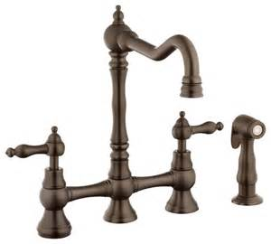 traditional kitchen faucet foret n110 01 orb kitchen faucet in rubbed bronze traditional kitchen faucets by