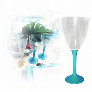 Verre à Eau à Pied : verres eau jetable avec pied turquoise decorations pour ~ Teatrodelosmanantiales.com Idées de Décoration