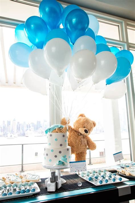 Decorating Ideas For Baby Shower by A Teddy Themed Baby Shower Baby Shower Baby