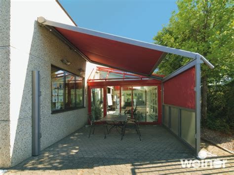 weinor plaza pro retractable patio awning with frame