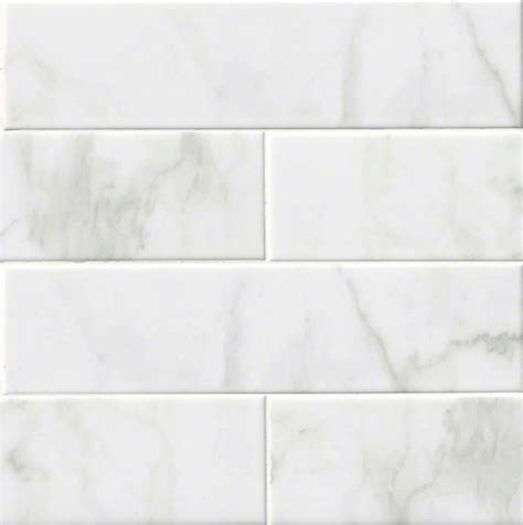 white 4x16 quot glossy ceramic backsplash tile