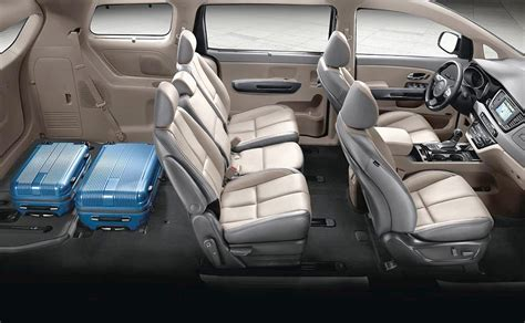 kia sedona lounge seating    stow seats