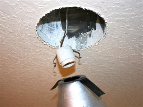 changing bulbs in recessed ceiling lights replace recessed light with a pendant fixture hgtv