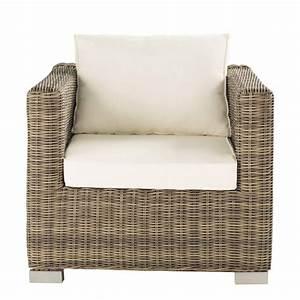 Fauteuil En Resine : fauteuil de jardin en r sine tress e blanc maisons du monde ~ Teatrodelosmanantiales.com Idées de Décoration