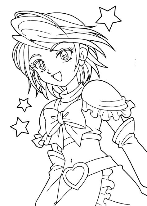 anime girl coloring pages bestofcoloringcom