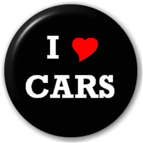 """""""i Love Cars (heart)"""" 25mm Pin Button Badge ∴ I Love"""