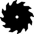 sawblades  series vector graphics dxf clip art  cnc