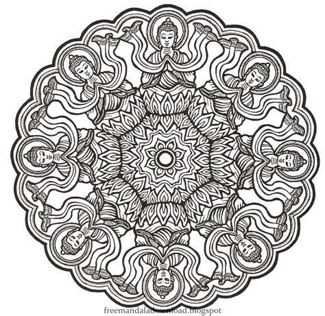 Coloring Mandala by Mandalas Zum Entspannen Mandalas Relaxation Free Mandala