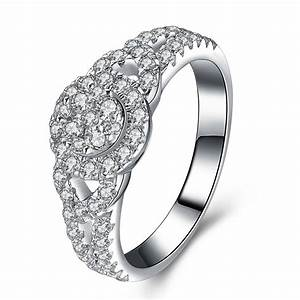 High quality sona synthetic diamond jewelry ring 925 for Precious stone wedding rings