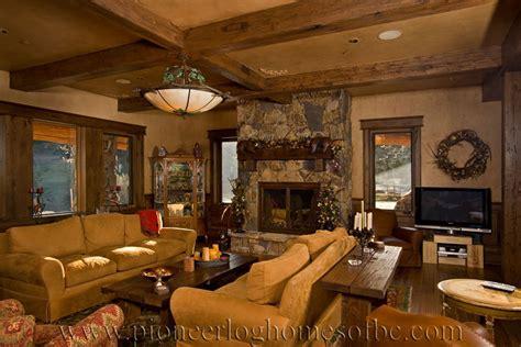 Log Cabin Style  Ee  Living Ee   Room Loft Designs Bc Canada