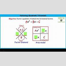 Factoring Quadratic Trinomials Youtube