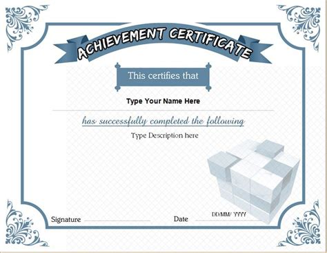 business certificate templates  ms word professional