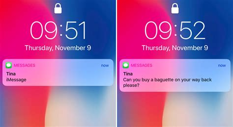 show notification previews  iphone  lock