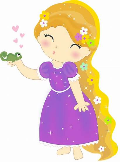 Rapunzel Princess Clipart Disney Hello Minus Babies