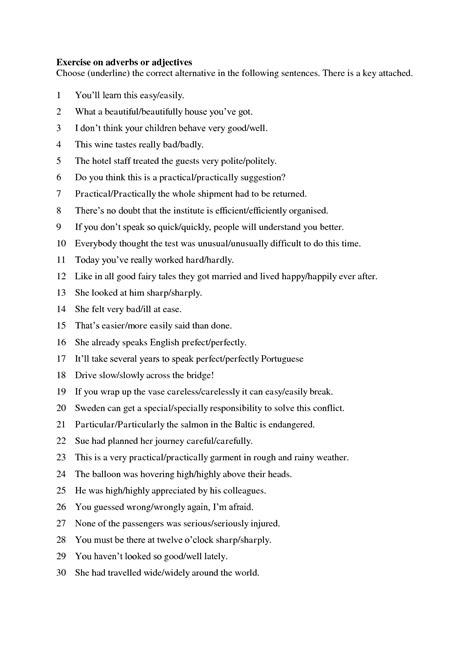 images  adverb clause worksheet  answer