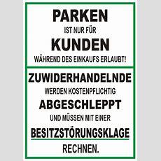 Hinweisschild Parken Nur Für Kunden Elchschilder