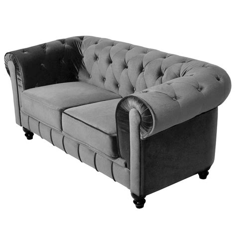 canapé chesterfield gris canapé canapé chesterfield gris 3 places velours pictures