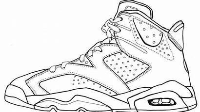 Jordan Coloring Shoe Shoes Pages Drawing Nike