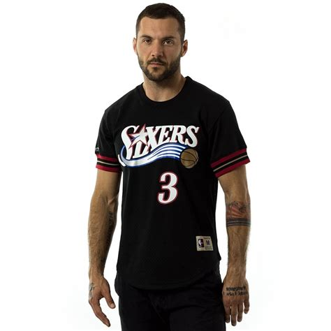 Tshirt Iverson mitchell and ness t shirt iverson 3 player name number