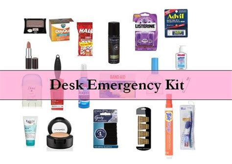 office desk must haves desk emergency kits for women stains wardrobes and