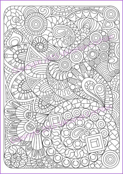 zentangle art pattern coloring page   adult