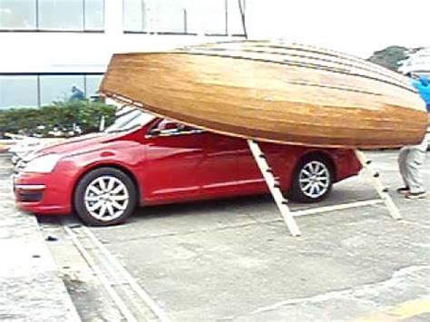 Boat Car Top Carrier by Boat Climbs To Car Top By Single