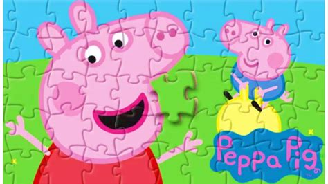 tappeto puzzle peppa pig peppa pig puzzle puzzle de peppa y george pig