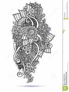Henna Muster Schablone : henna paisley mehndi doodles abstract mit blumen vektor abbildung bild 53415509 ~ Frokenaadalensverden.com Haus und Dekorationen