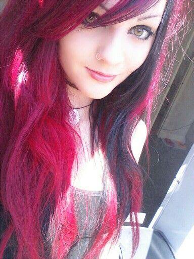 pink hair magenta pink hair hairstyle cute hair