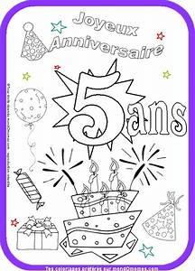 Coloriage Anniversaire 5 Ans.Anniversaire Fille 5 Ans Invitation Anniversaire 5 Ans Anniversaire