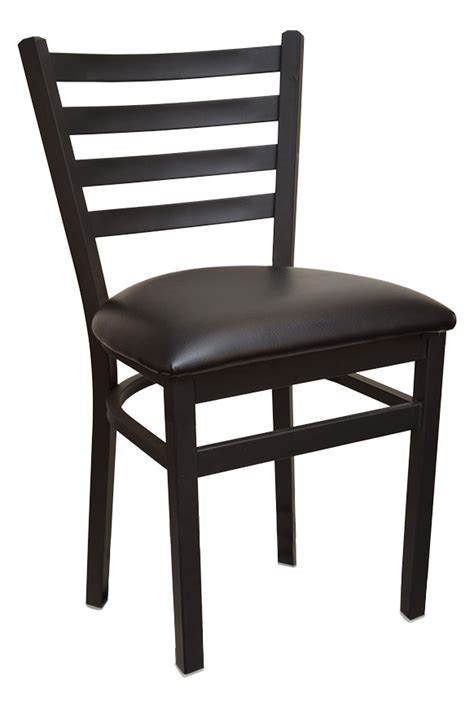 black ladder back chairs with seats value line ladder back metal chair with black 9771