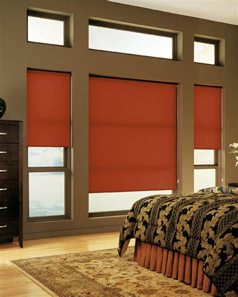 plain burnt orange roller blinds