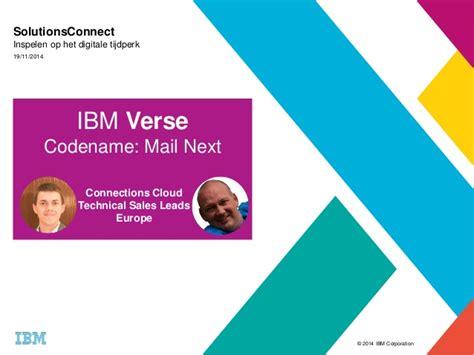 Ibm Verse Solutionsconnect 2014 Nl Utrecht