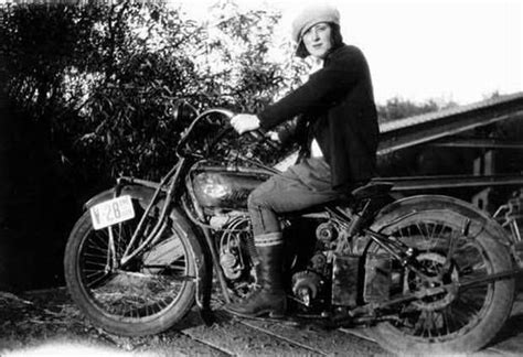 Woman On A Triumph Motorcycle