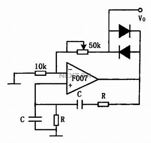 F007 Stable Sine Wave Oscillator Circuit Diagram Under