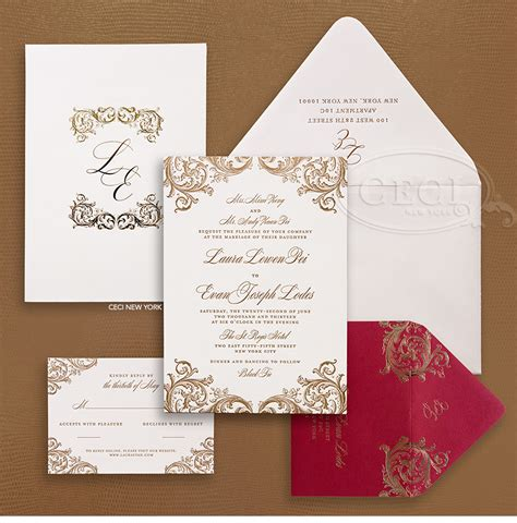 Red And Gold Wedding Invitations Red And Gold Wedding