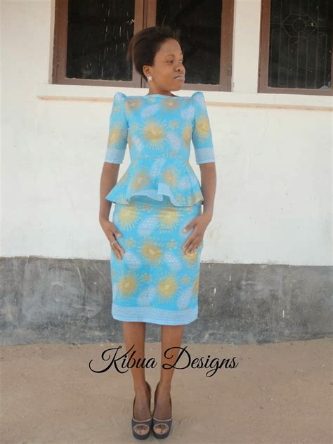 kibua designs kitenge peplum dress