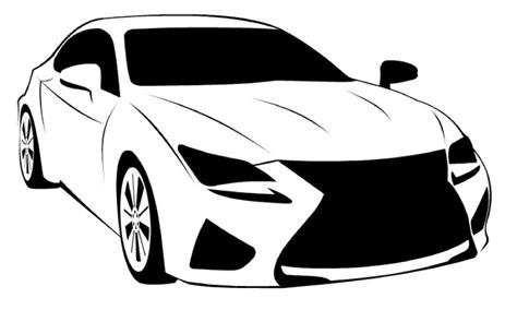 How To Draw A Lexus Rc F  Как нарисовать Lexus Rc F Youtube