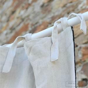 Rideaux En Lin Lavé : rideau en lin lav pais naturel bourdon noir maison d 39 t ~ Teatrodelosmanantiales.com Idées de Décoration