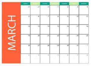 March 2017 Calendar Printable Free