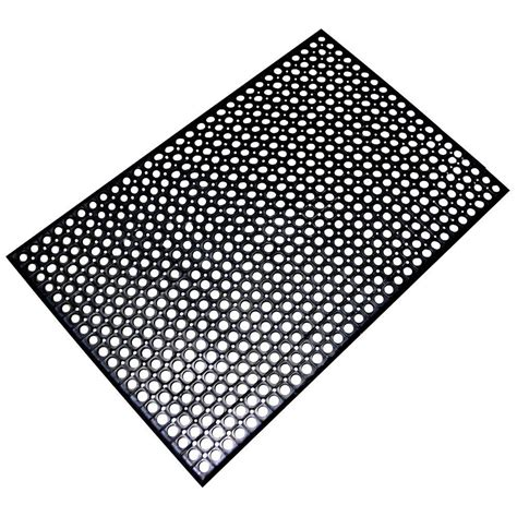 floor mats at home depot buffalo tools 36 in x 60 in anti fatigue rubber flat mat rmat35 the home depot