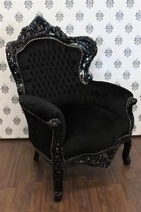 Barock Stil Möbel : barock sessel king schwarz schwarz m bel antik stil ebay ~ Markanthonyermac.com Haus und Dekorationen