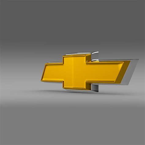logo chevrolet 3d chevrolet new logo 3d model max obj 3ds fbx c4d lwo