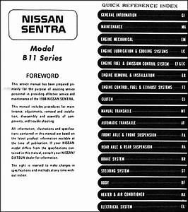 1984 Nissan Sentra Original Repair Shop Manual 84 Oem Service Book